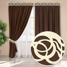 Комплект штор с карнизной планкой «Виолетта», венге